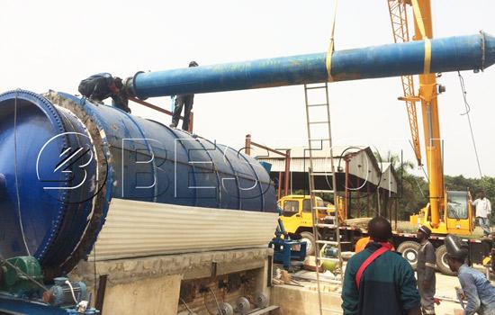 Beston waste plastic recycling equipment installed in Nigeria
