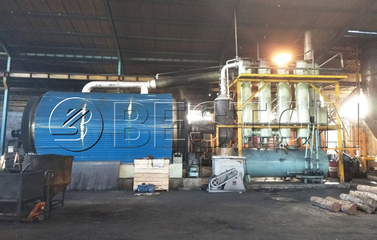 Beston Tyre Recycling Plant Assembled in Indonesia